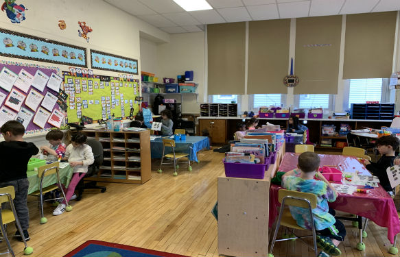 Morse classrooms are now configured to allow different learning environments.