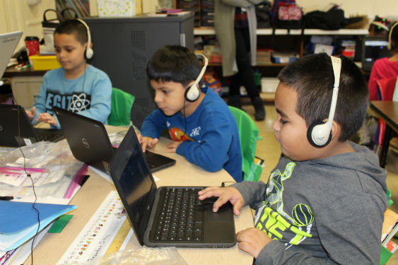 Students participate in Hour of Coding