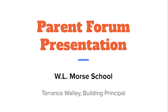 morse parent forum