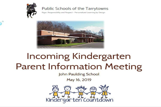 2019-2020 Kindergarten Parent Meeting
