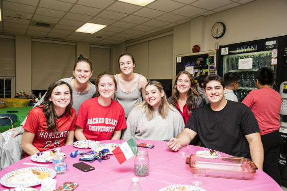SHHS students host International Banquet with school community.
