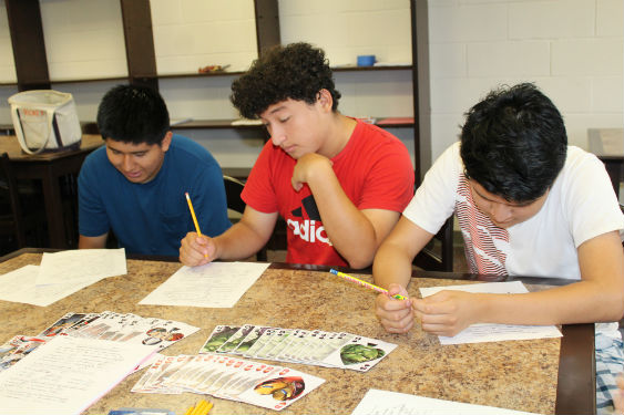 SHHS students learn challenging math at this summer's boot camp.