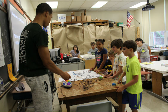 Students at the Summer Challenge Institute enjoy academic pursuits at Washington Irving.