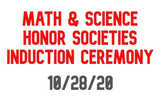 Math and Science Honor Societies Induction Ceremony